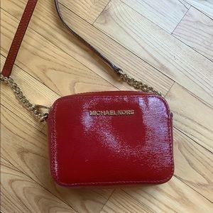 Red Patent Leather Michael Kors Crossbody
